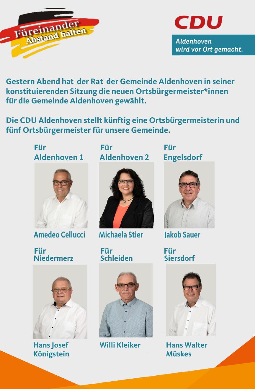 Die CDU Ortsbürgermeister*innen