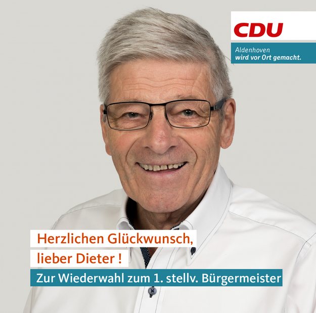 Dieter Drehsen bleibt   1. stellv. Bürgermeister