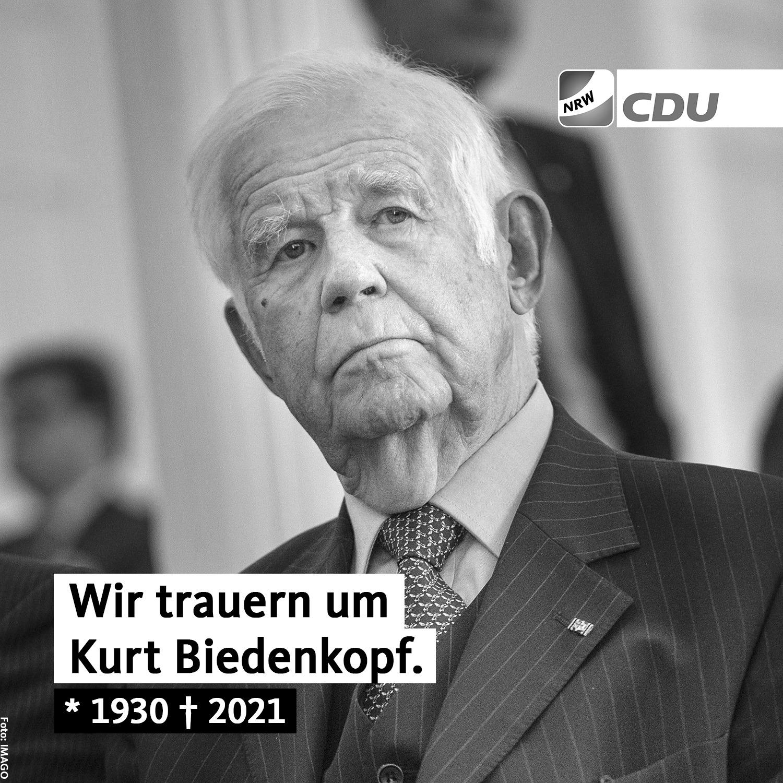 Der CDU Gemeindeverband Aldenhoven trauert um einen Parteifreund und großen Politiker.